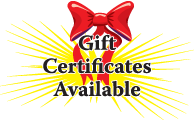 Gift Certificates Available (Agarra un Certificado)
